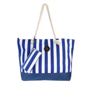 Handbags - Large Blue and White Tote